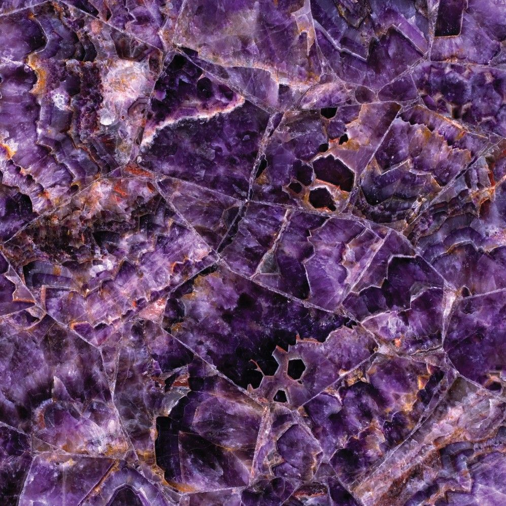 concetto semi-precious amethyst table, countertops, high end stone