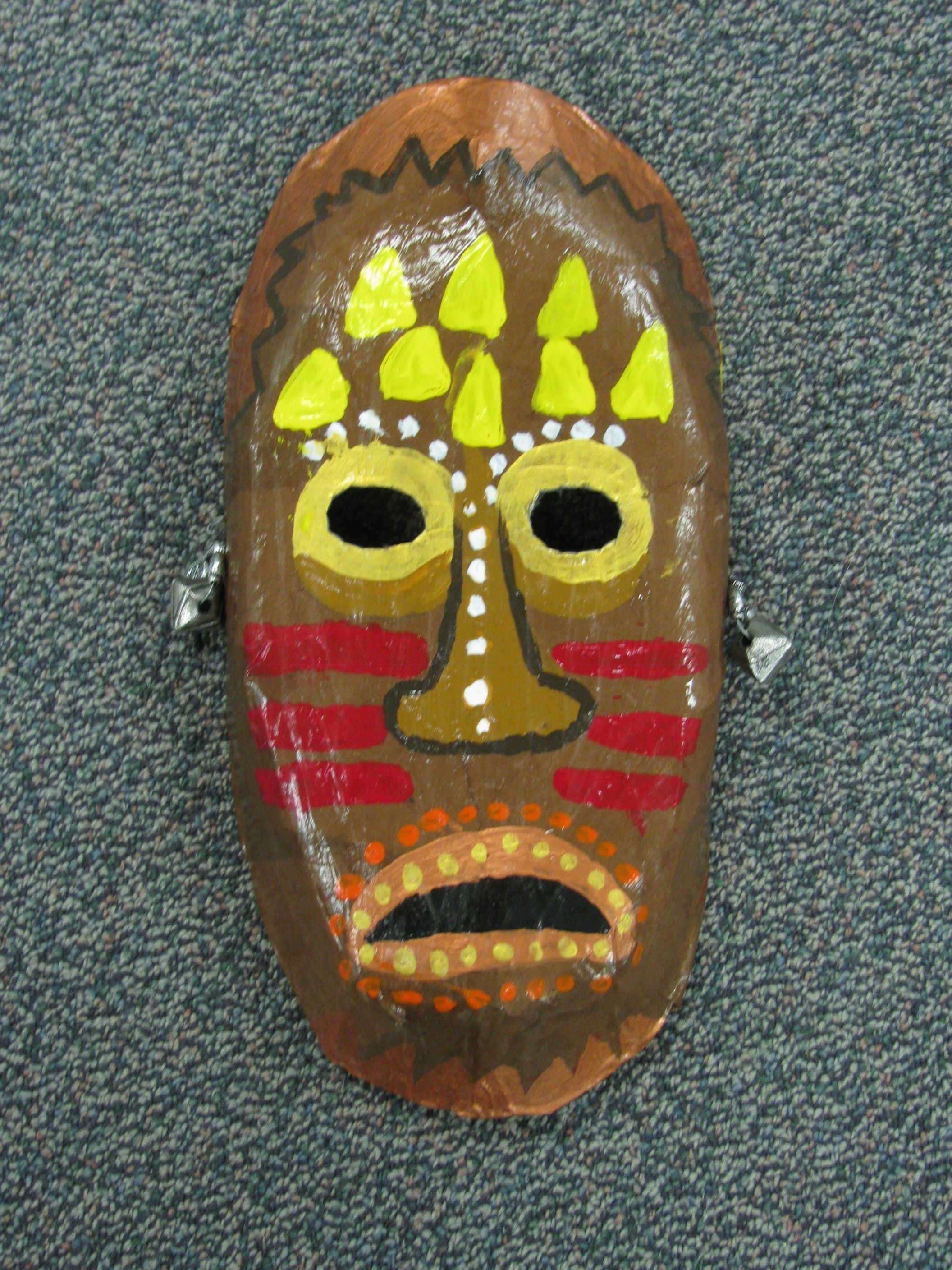 3rd Grade Paper Mache African Tribal Mask Lesson By Art