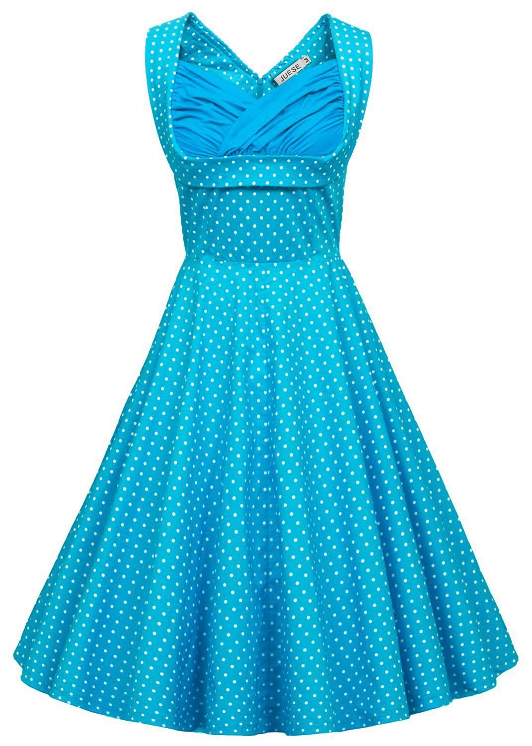 JUESE Women\'s Vintage 60s Prom or Homecoming Swing Dress: Amazon ...