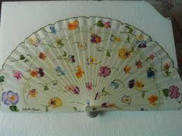 Resultado de imagen de abanicos pintados a mano angeles alarcon