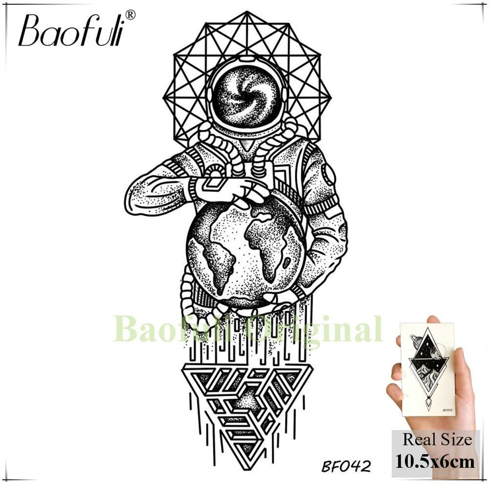 445fc7b69ce04 Baofuli Black Henna Owl Geometric Mandala Flower Temporary Tattoo Sticker  Body Art Arm Fake Tattoos Women Men Waterproof Tatoo Temporary Tattoos  Cheap ...