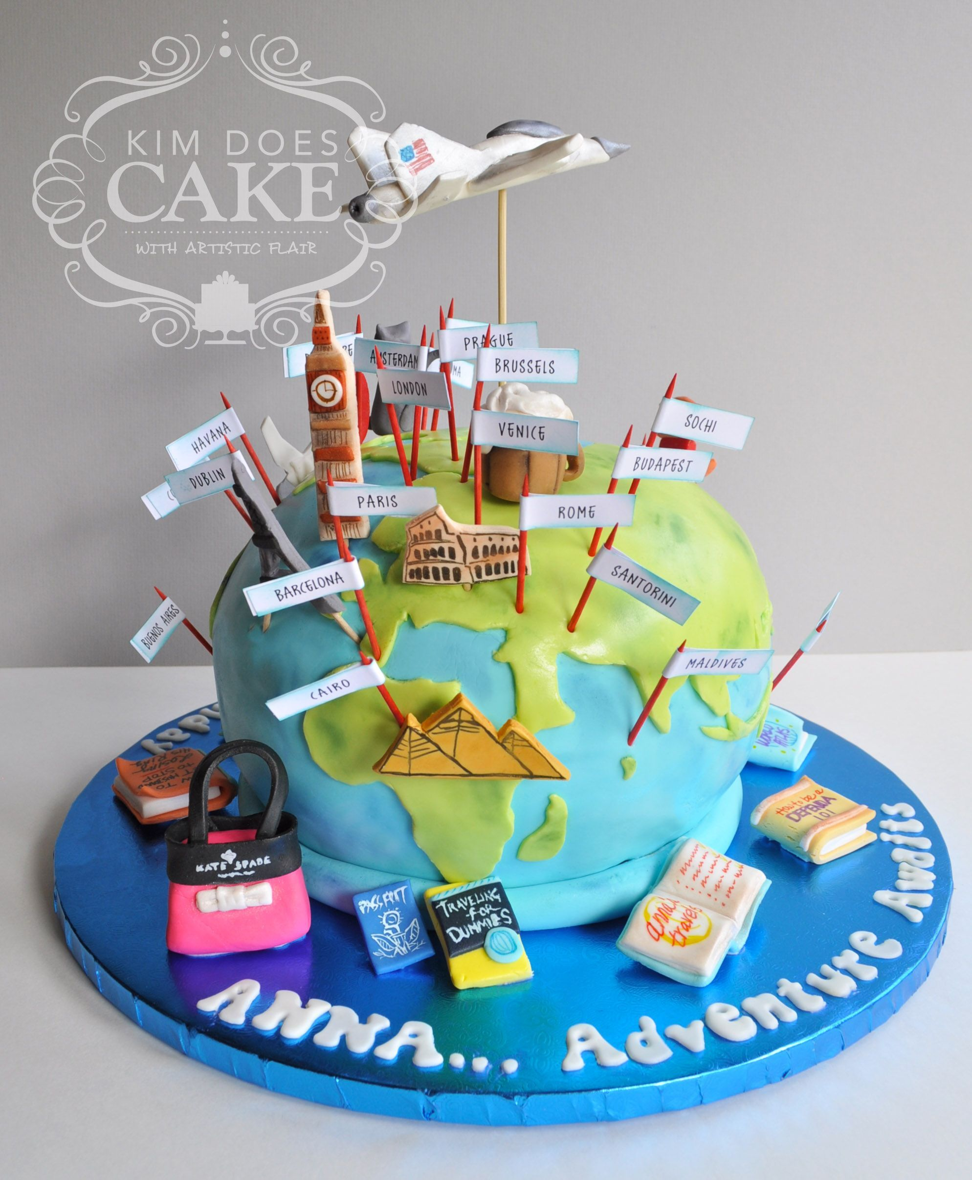 World Traveler Cake Ideas By Kim Does Cake L Mybirthday2018