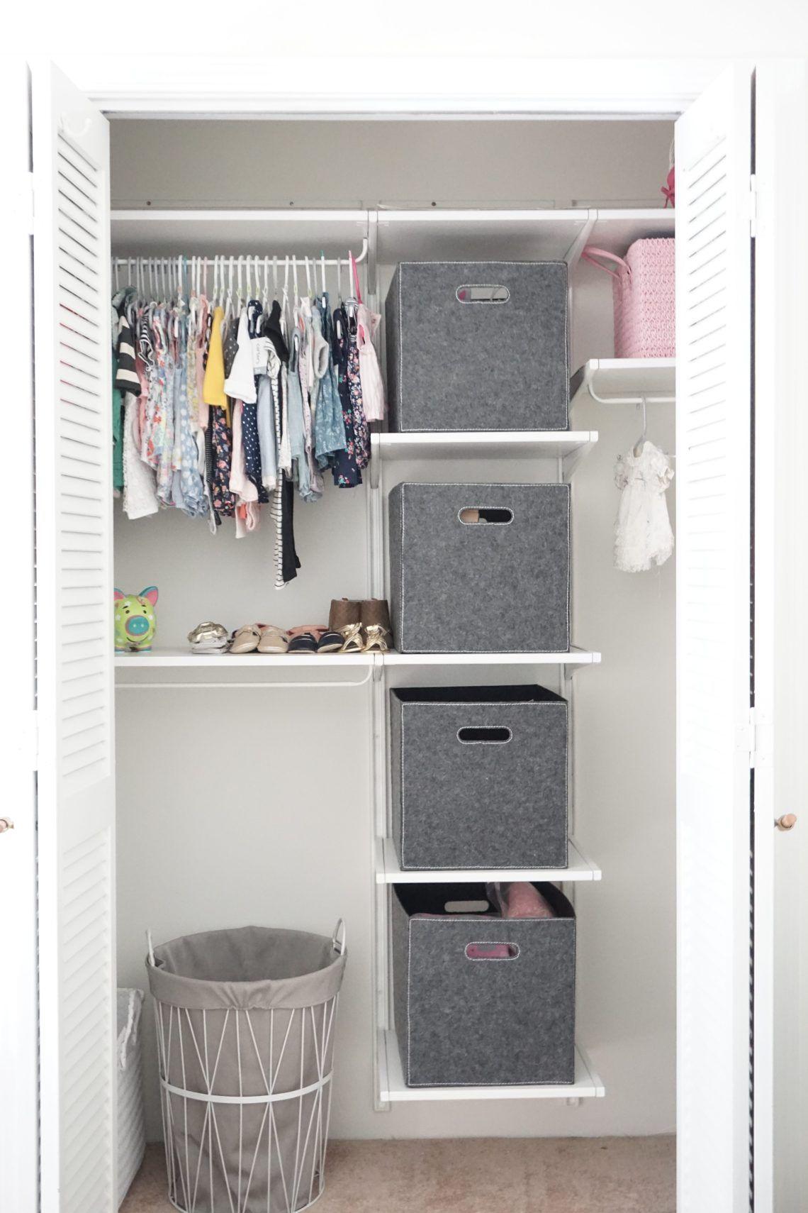Neutral Boho Nursery Reveal Ikea algot closet, Ikea