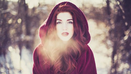 And The Red Hair Could Be Cute For Winter Photos Little Riding Hood