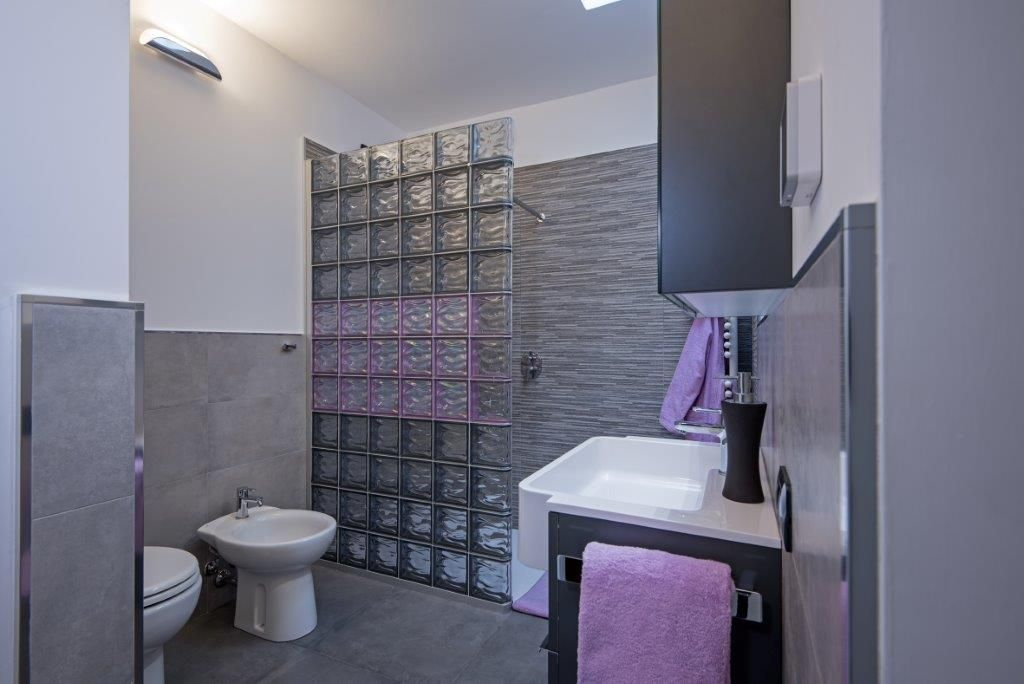 Mampara de ducha con bloques de vidrio de bormioli rocco - Paves vidrio ...