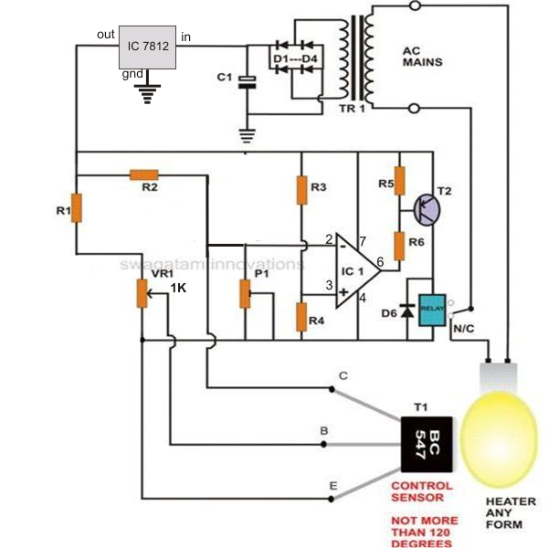 How To Build A Simple Egg Incubator Thermostat Homemade Circuit Projects Circuit Projects Electronic Circuit Projects Electronic Circuit Design