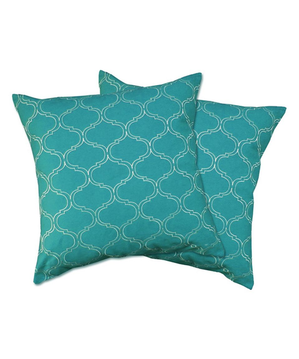 Another great find on zulily turquoise trellis pillow cover set