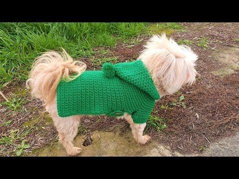 Crochet Dog Sweater - Belly Button #6 - YouTube | Romy | Pinterest ...