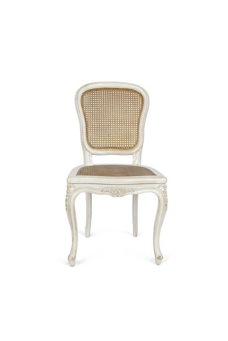 Louis xv dining chair - The John Louis Xv Dining Chair Is Shown In Oak Wood Washed White Finish With