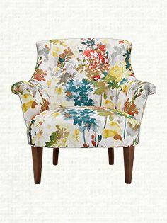 Fleur Upholstered Chair in Perky Garden