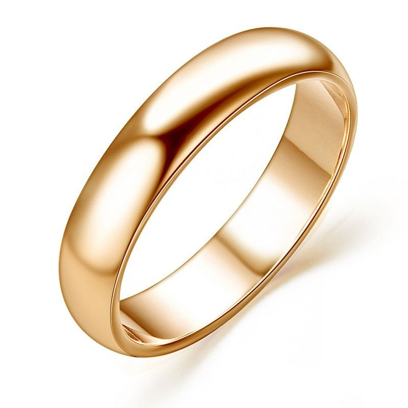 Man and Woman 18K Rose Gold Plated High Polish Wedding band Classic