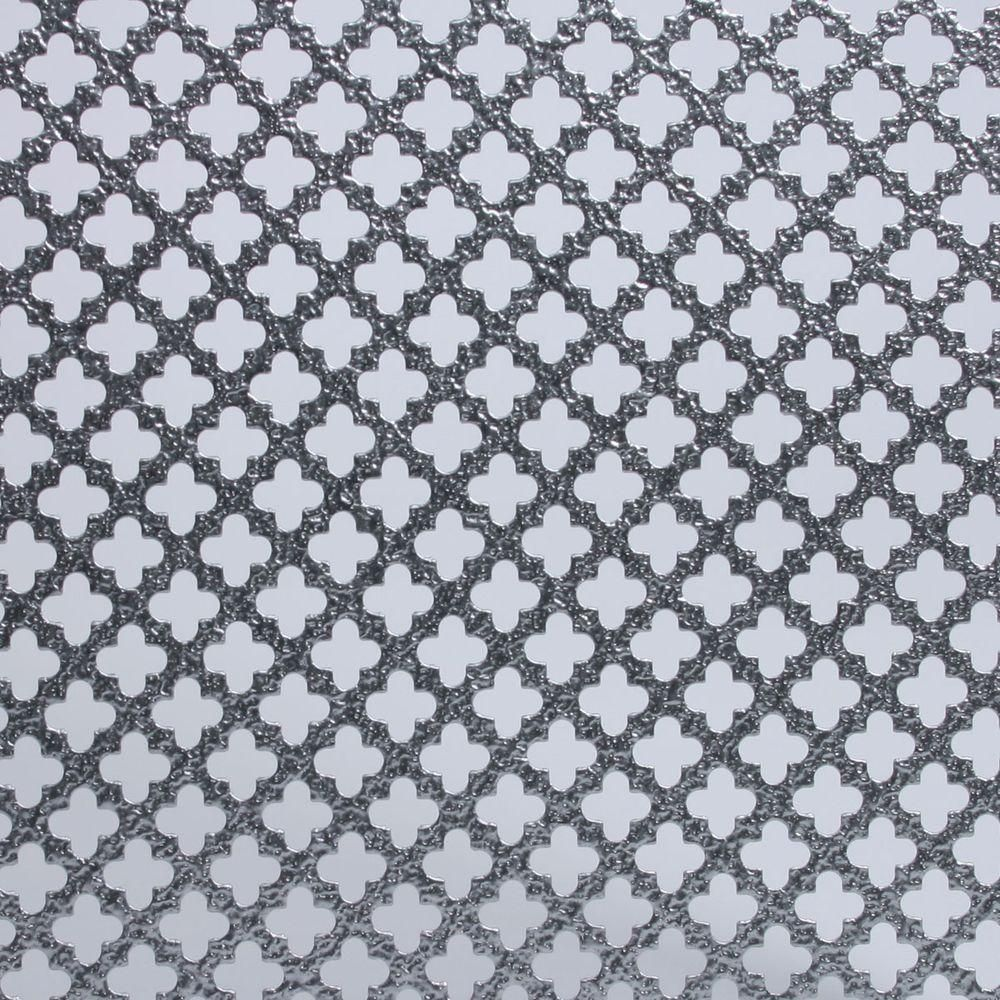 M D Building Products 24 In X 36 In Cloverleaf Aluminum Sheet In Silver 57042 Aluminum Sheet Metal Sheet Metal Decorative Sheets