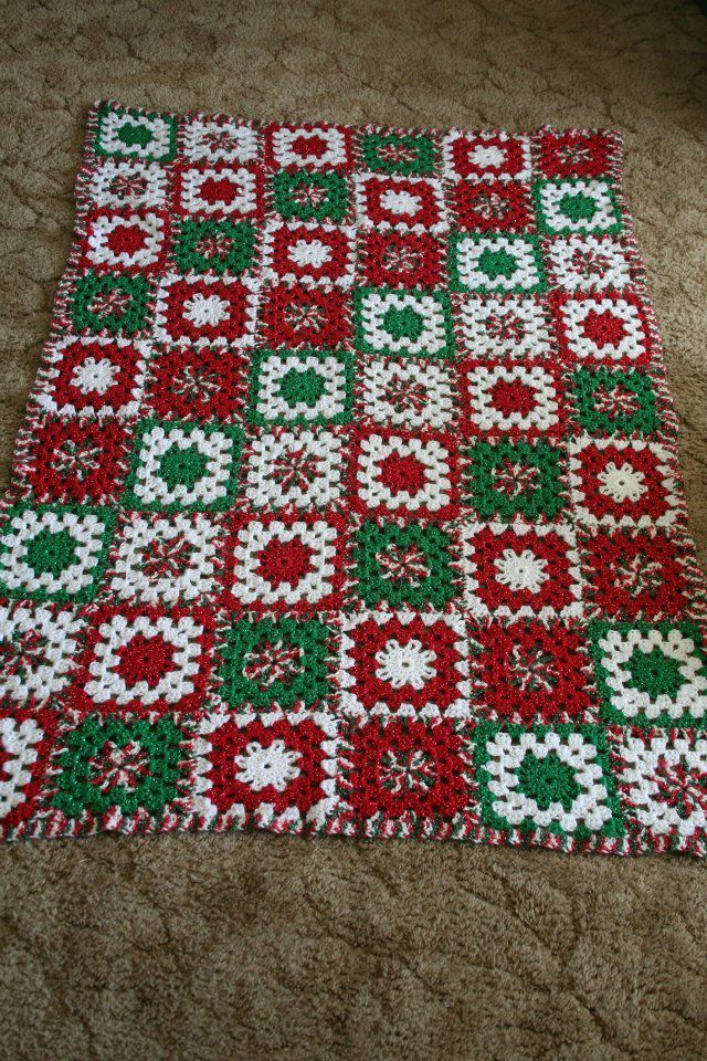 Christmas Afghan Pattern By Mikey Sellick Mileyssmail On Youtube