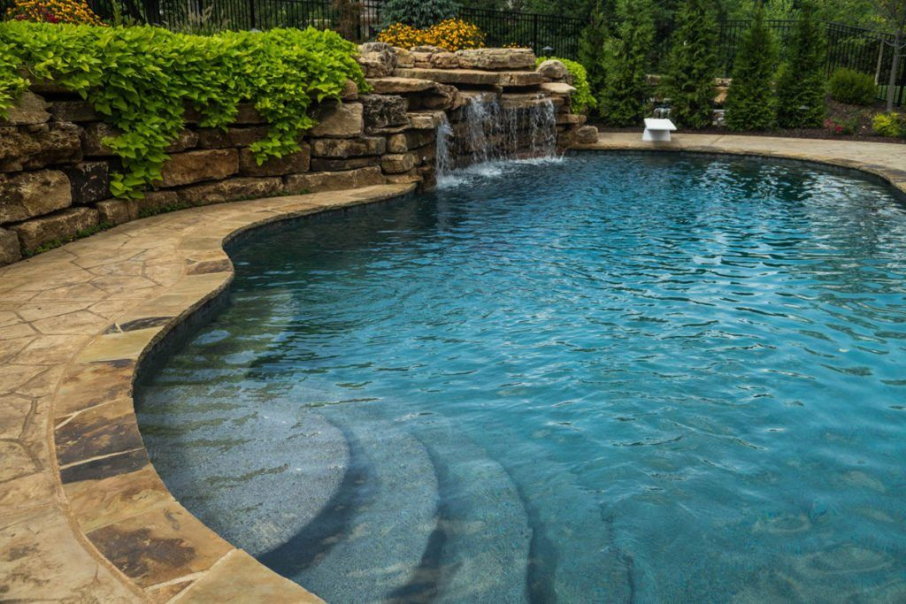 In Ground Pools St Louis Mo Poynter Landscape At Poynter Our Goal Is To Create The Outdoor Living Space Of Your Dre Pool Water Features Pool Water Features