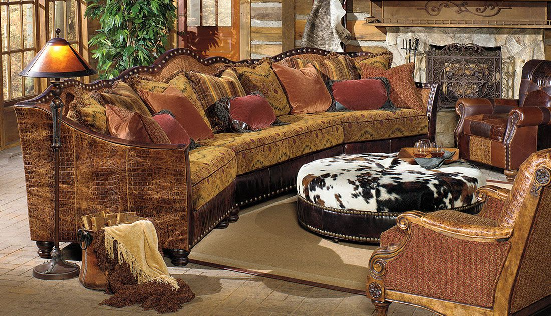 western style cowhide  upholstery sofa leather chairs