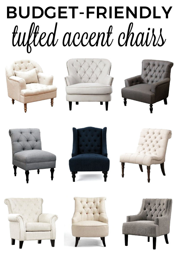 Get A List Of Affordable Budget Friendly Tufted Accent Chairs That Will Help Make Your Space In 2020 Tufted Accent Chair Accent Chairs For Living Room Accent Chairs