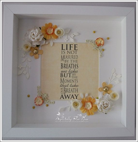 Beautiful Ooak Shadow Box Framed Picture Shadow Box