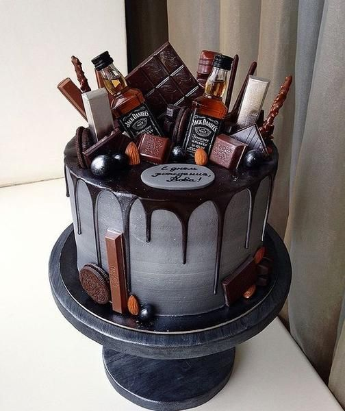 The Groom's Cake - A Brief History & Inspiration The Groom's Cake - A Brief History & Inspiration — Marrygrams // Bourbon and chocolate are the groom's cake version PB & J. Add tiny bottles of Jack to really get the party started.
