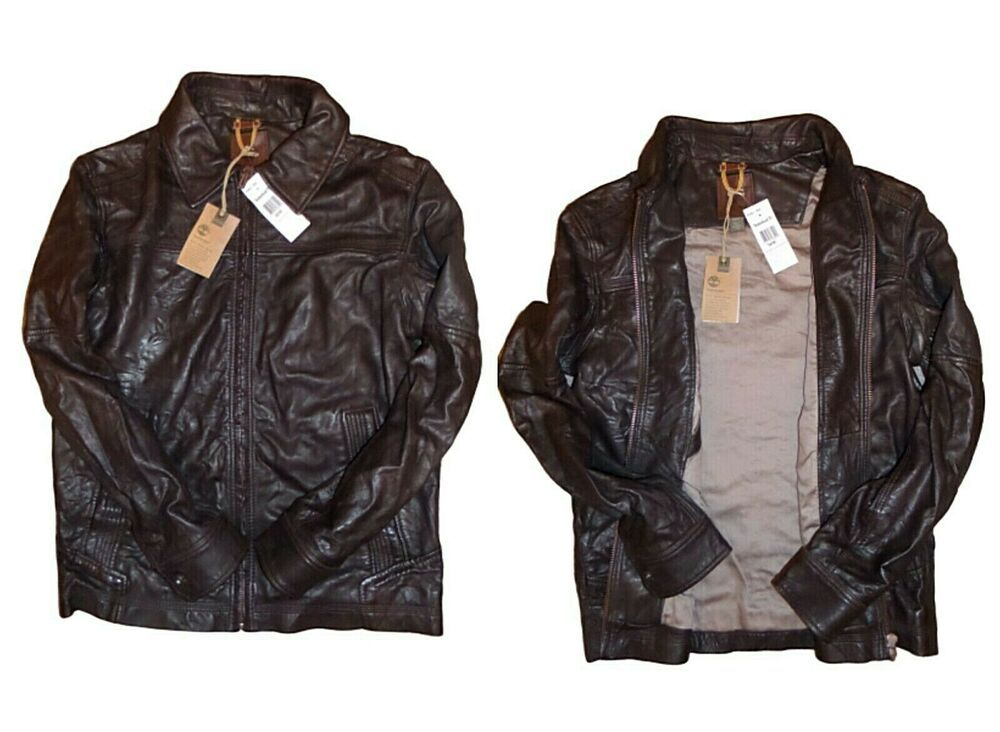Sala Envío Ciudad  TIMBERLAND STRATHAM BOMBER JACKET 100% LAMBSKIN LEATHER BROWN MEN'S M RRP  £560 #Timberland #BomberJacketBikerMotor… | Leather bomber jacket, Clothes,  Leather bomber