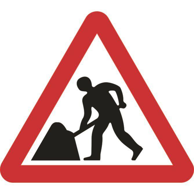 600mm Triangular Road Works Roll Up Sign Dopravni Znacka Znacka