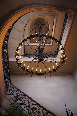 Biltmore House S Iron Chandelier Is Suspended By A Single