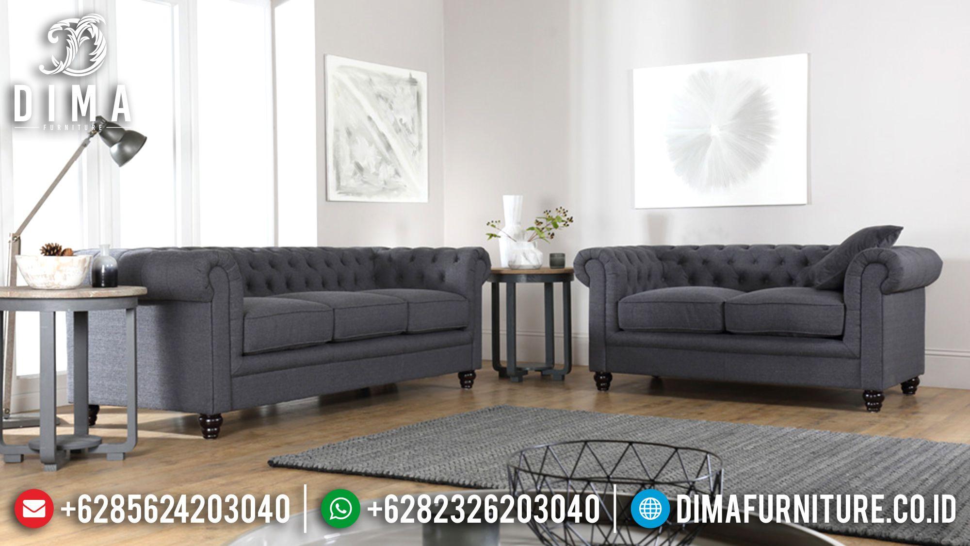 Set Sofa Tamu Minimalis Mewah Jepara Fabric Canvas Terbaru 2018 ST