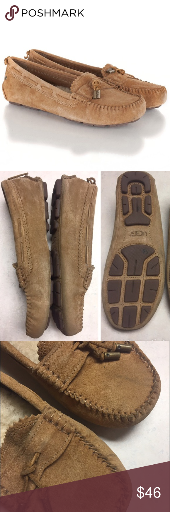 UGG Loafers UGG loafers in wonderful condition.  A little wear on the front of the shoe but isn't noticeable when worn. Suede cleaner will make these look brand new. Make an offer. UGG Shoes Flats & Loafers