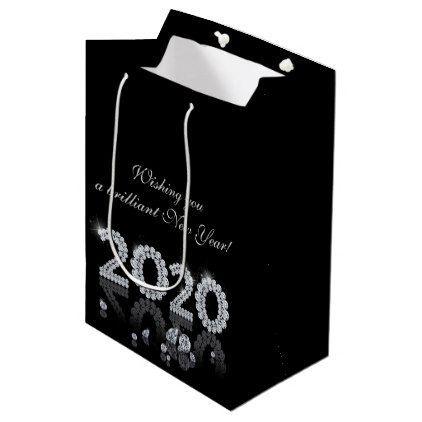 Brilliant Diamonds Luxury New Year 2020 Medium Gift Bag - glamour gifts diy spec...