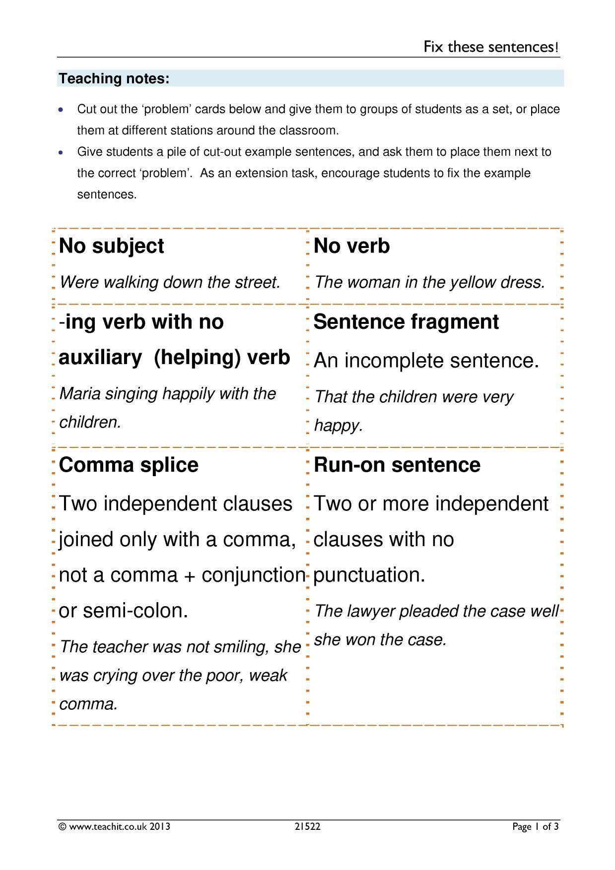 20 3rd Grade Editing Worksheets Della Simmons In 2020 Sentences Worksheets Teaching