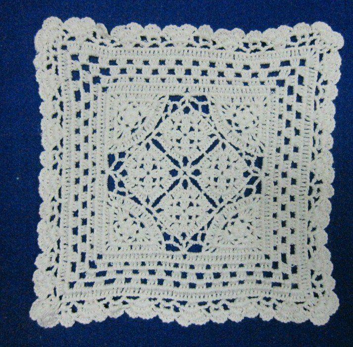 Crochet Cotton Square Coaster Doily/placemat-rectangle - Buy Cotton ...