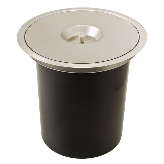 Hafele Built In Single Waste Bin For Countertop   12 Quarts (3 Gallons)