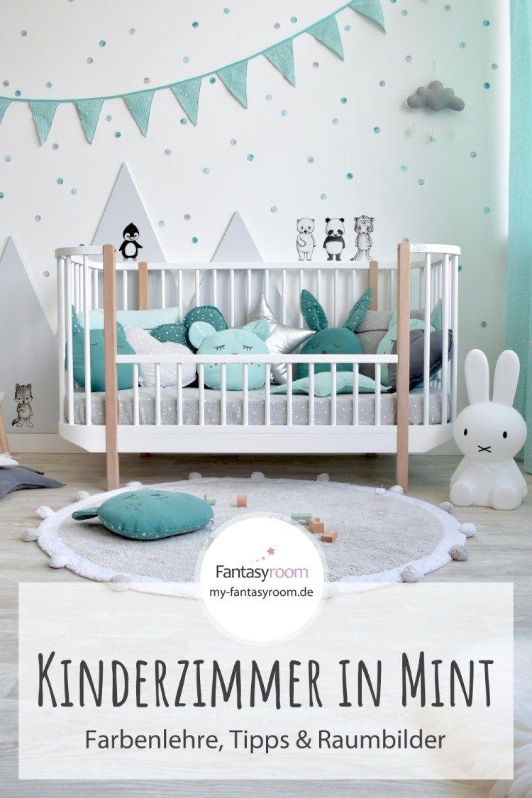 Kinderzimmer In Mint Einrichten Gestalten Tipps Ideen Raumbilder Kinder Zimmer Wandfarbe Kinderzimmer Kinderzimmer