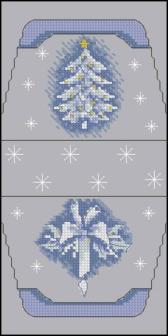 Cross-stitch White Christmas Tree purse pattern... no color chart available, just use pattern chart as your color guide.. or choose your own colors..