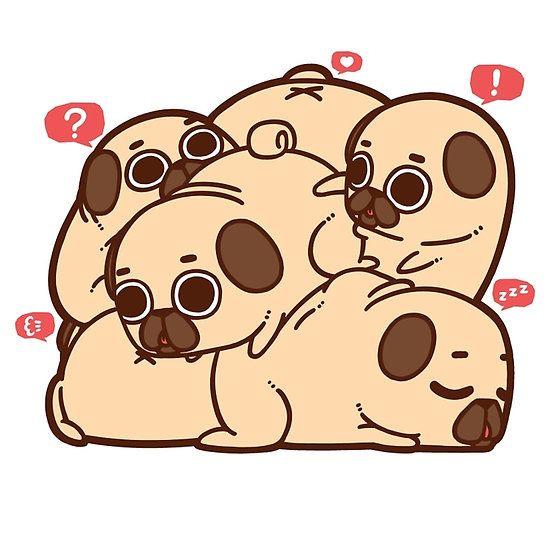Pugs, Cute Pugs, Cute Art