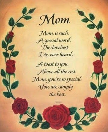 Mothers Day Poems From Son Happy Mothers Day Mothers Day Quotes