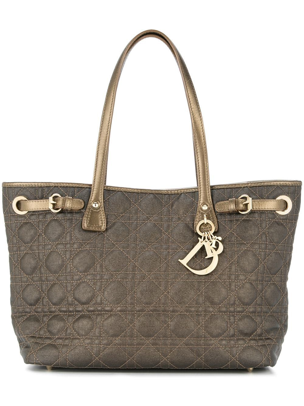 7c143a3bc CHRISTIAN DIOR PRE-OWNED Lady Dior Cannage Shoulder Bag - Brown in ...
