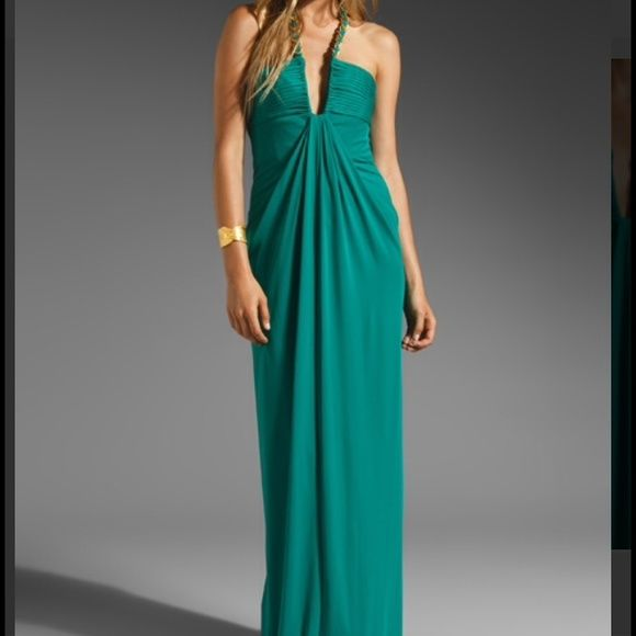 BCBG green halter gown | Halter gown, Gowns and Bcbg dresses