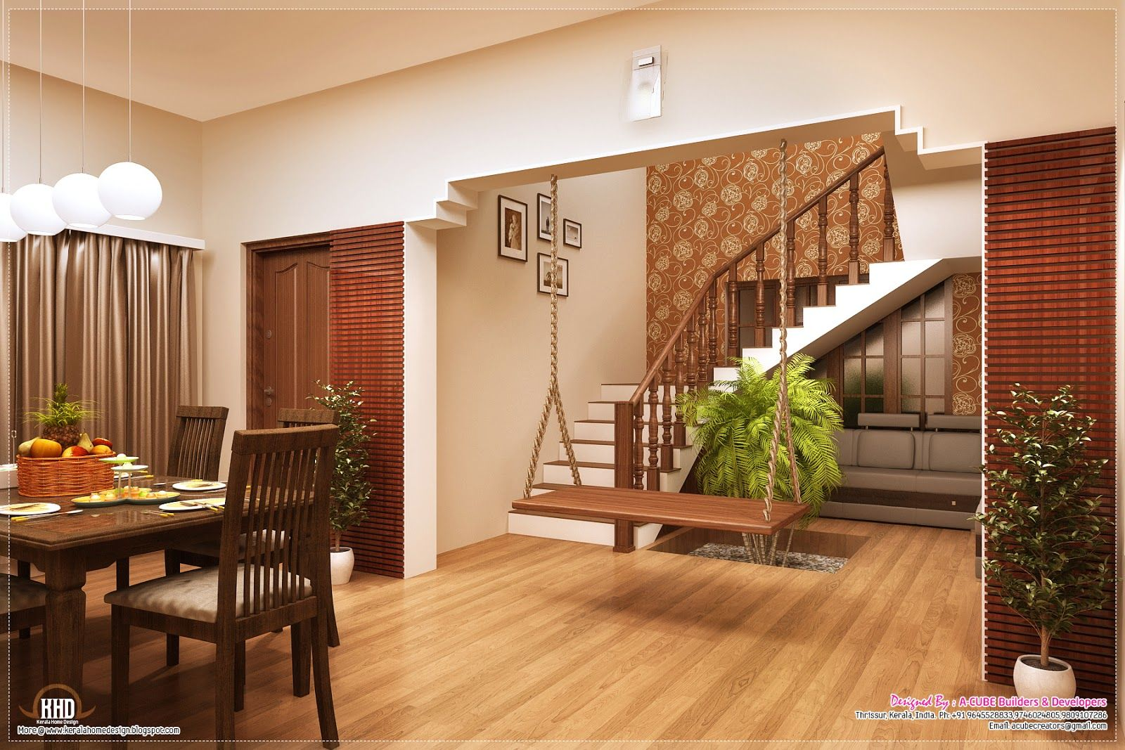 Dining And Stair Jpg 1600×1067 Stairs In Living Room Indian | Living Room Stairs Design | Home | Classic House | Catalogue | White | Semi Circle House