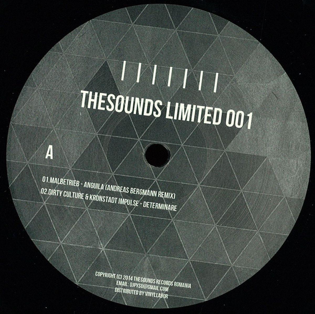 "TheSounds Limited Vinyl 12"" - Malbetrieb / Andreas Bergmann / Rhadow / Mario Aureo / Nusha / Dirty Culture / Kronstadt Impulse http://www.deejay.de/Various_Artists-Thesounds_Limited_001__140603"