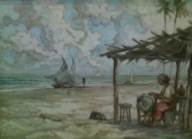 La dentellière. de Afonso LOPES (brésilien 1918 - 2000)