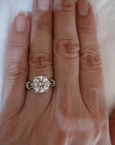 Solitaire diamond ring on the hand Future Engagement Rings