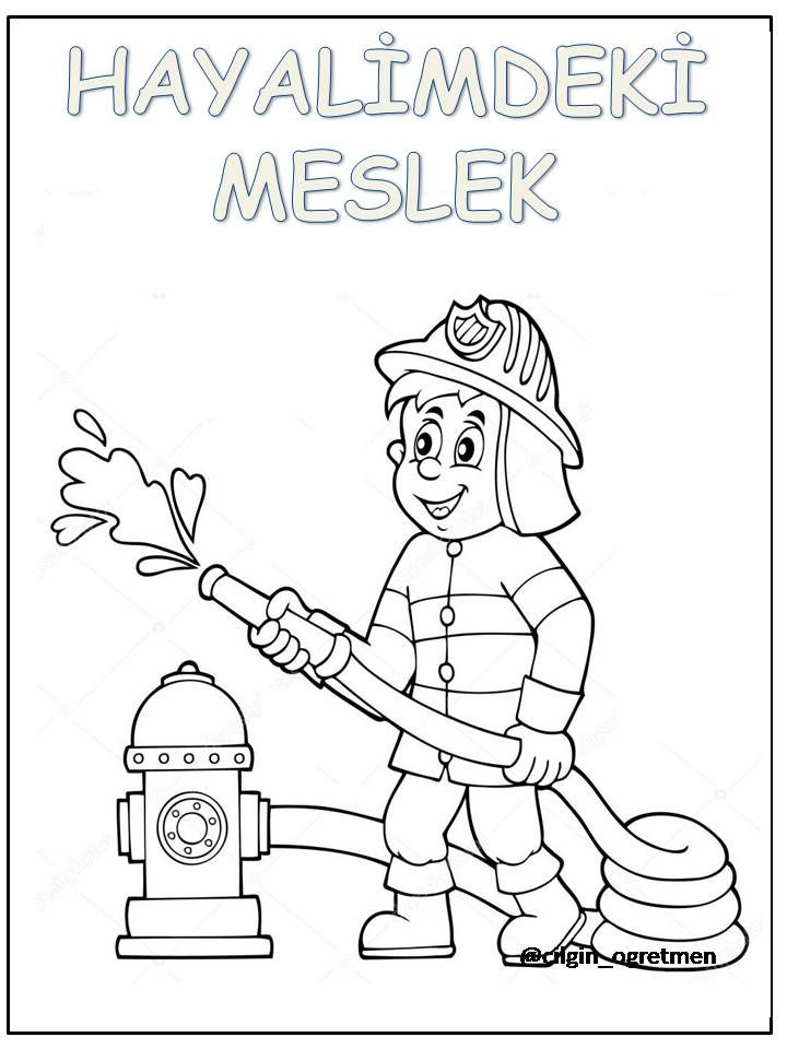Meslekler Education Clipart Animal Coloring Pages Clip Art