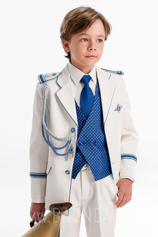 6b0f2c5ef Traje de almirante con azul para niño 2017 Varones 2051. Almirante comunión  con chaleco azulón