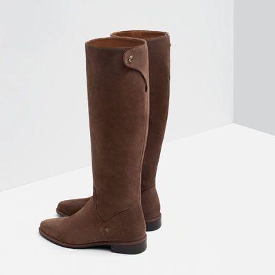 1d9f95ec Imagen 3 de BOTA PLANA PIEL de Zara | Zapatos. en 2019 | Botas ...