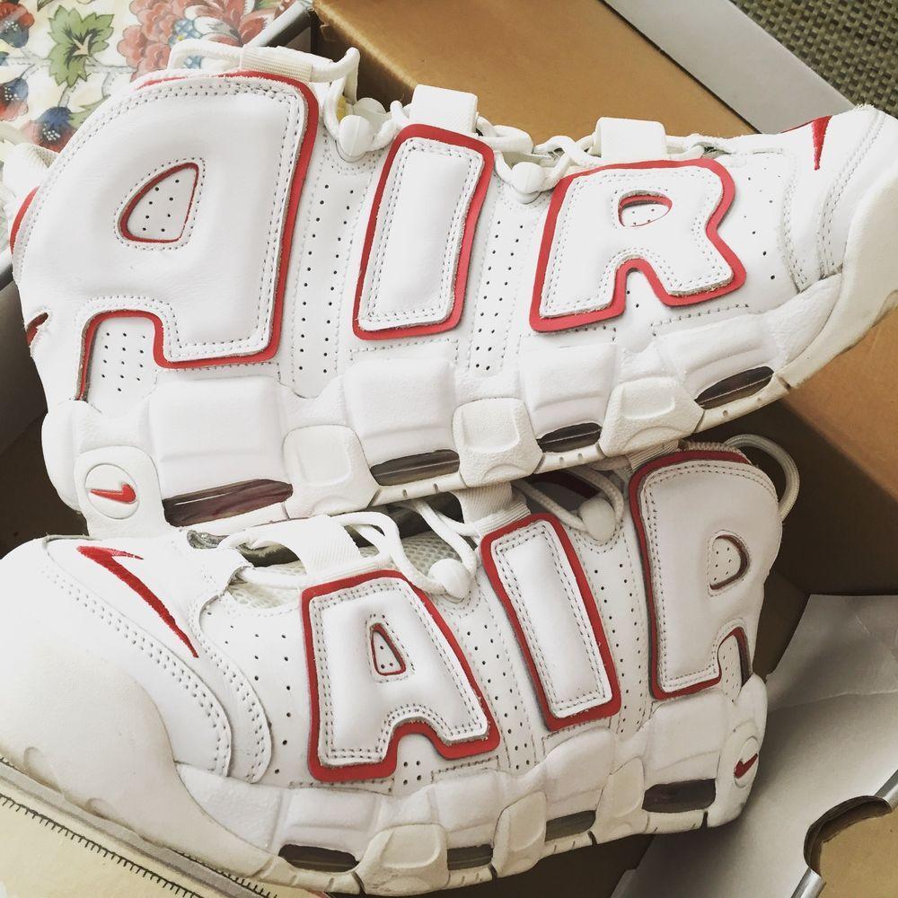 the latest 77729 bb34d Nike Air More Uptempo Pippen Chicago Bulls White Red size 12 Nike  BasketballShoes