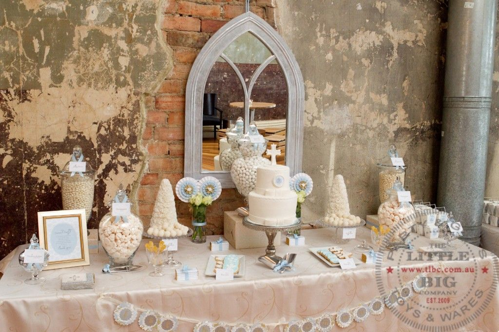 Pretty Dessert Table For Communion Communion Party Ideas