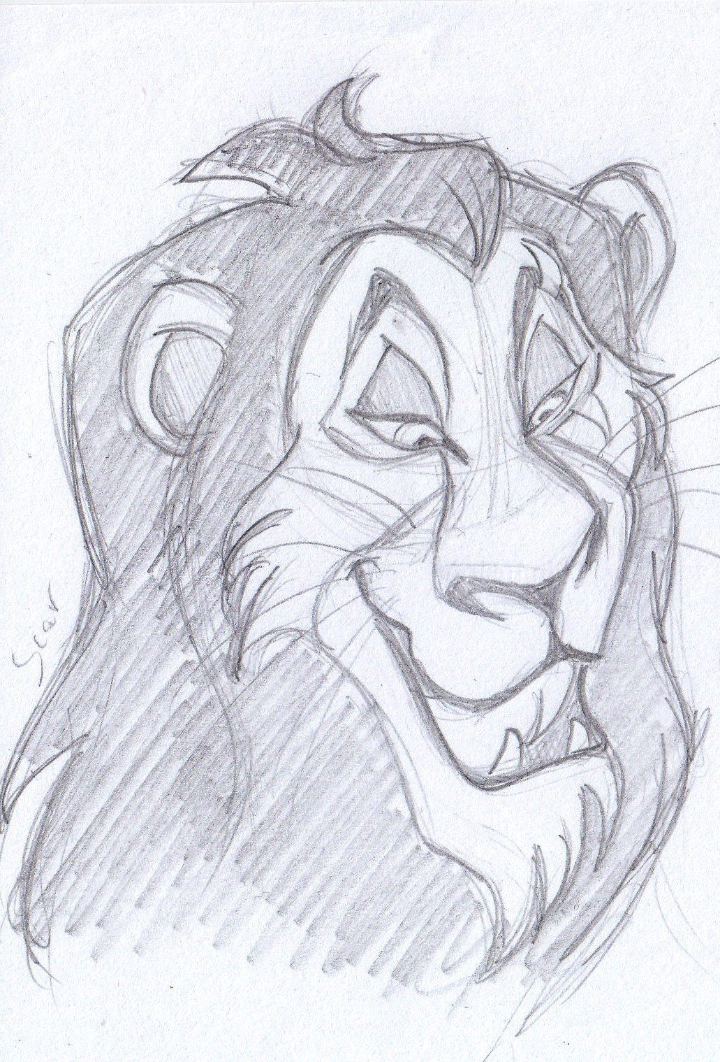 Disney Sketch - Scar The Lion King 1994 | Art By Anna Helena | Pinterest | Lions Sketches And ...