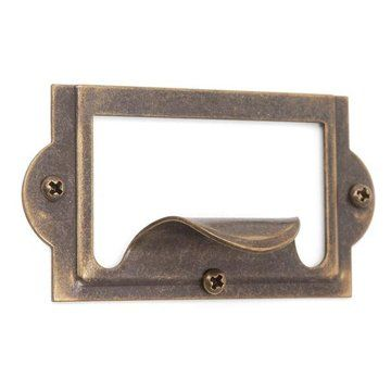 Steel Cardholder and Drawer Pull Furniture hardware