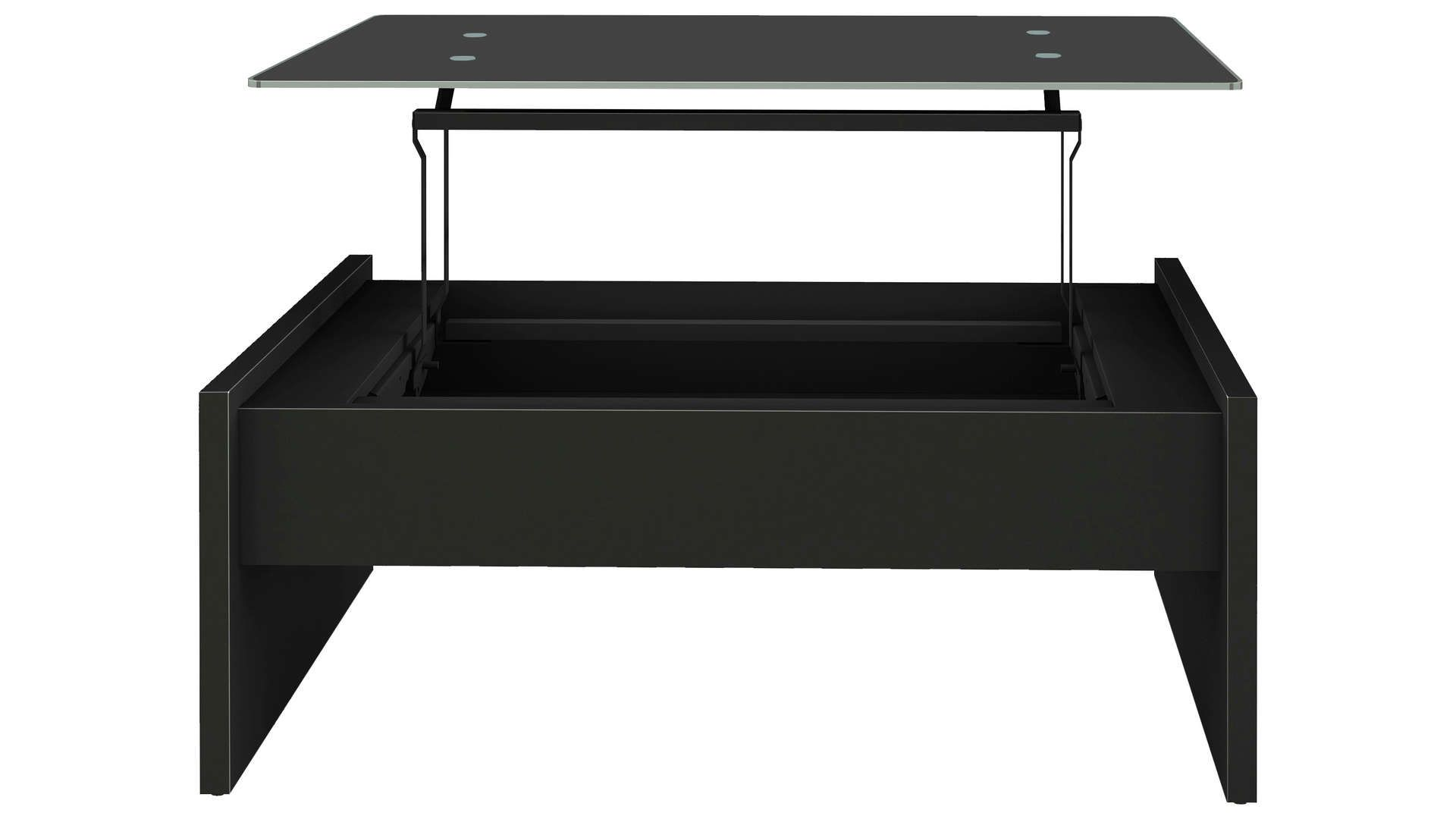 Table Basse Rectangulaire Avec Plateau Relevable Lexie Coloris Noir Table Basse Rectangulaire Table Basse Et Table