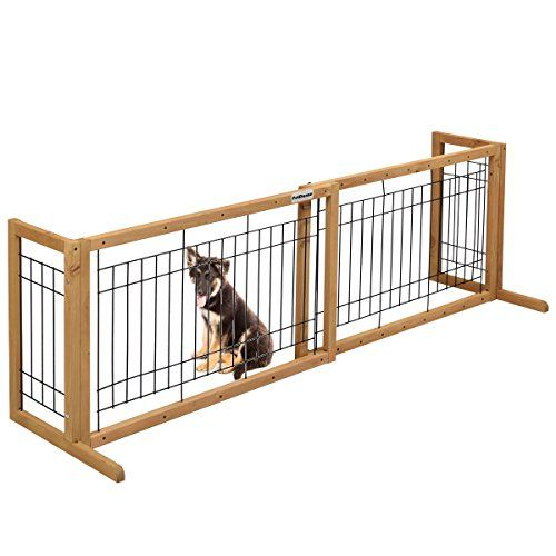 PetDanze Free-Standing Pet Gates   Extra Wide Indoor Small Dog Gate ...
